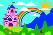 Раскраска по номерам на холсте на деревянной рамке 20*30см Замок DD00016 /День детства