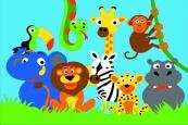 Раскраска по номерам на холсте на деревянной рамке 20*30см Животные Африки DD00023 /День детства