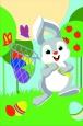 Раскраска по номерам на холсте на деревянной рамке 20*30см Зайчик с сачком DD00027 /День детства