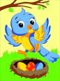 Раскраска по номерам на холсте на деревянной рамке 15*20см Птенчик DD00032 /День детства