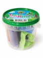 Тесто для лепки в банке 6 цветов + 2 формочки, 150гр П110 /Ляпсик