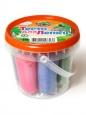 Тесто для лепки в банке 8 цветов + 2 формочки 200гр П111 /Ляпсик